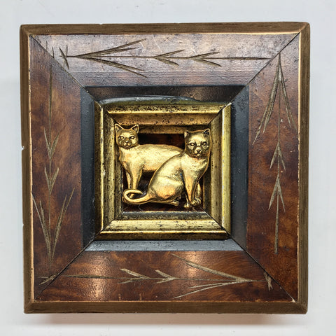 Burled Frame with Cats (3.75