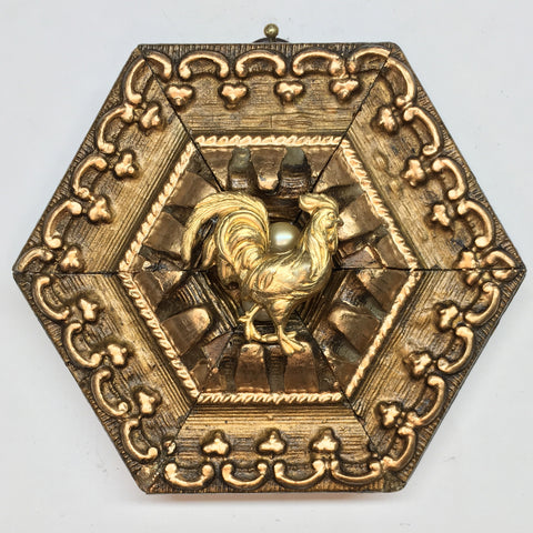 Gilt Frame with Rooster (4.25