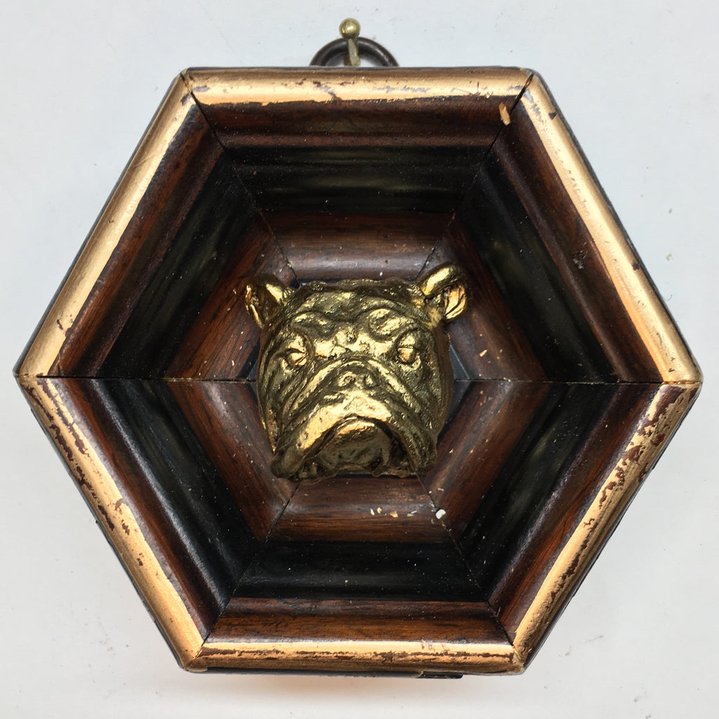 Wooden Frame with Bulldog (3.5