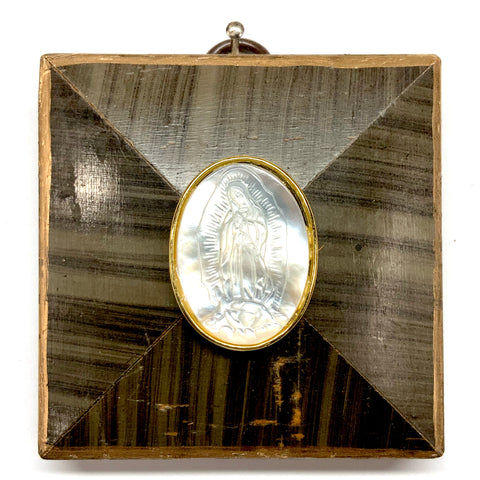 Painted Frame with Mother of Pearl Mary (2.75
