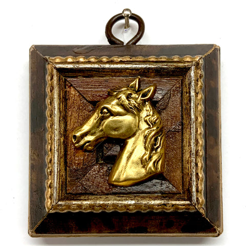Burled Frame with Horse (2.75