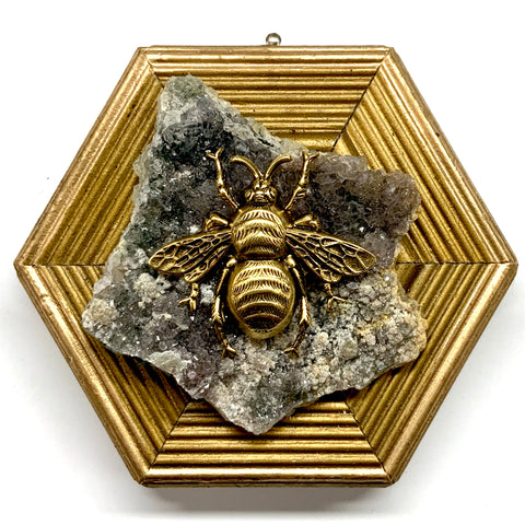 Gilt Frame with Grande Bee on Semi-Precious Stone (4