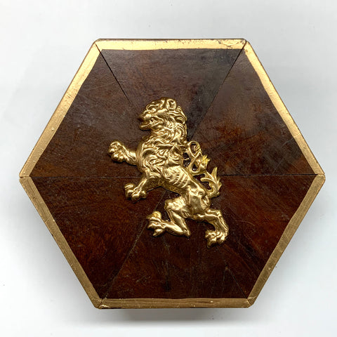 Burled Frame with English Lion (4