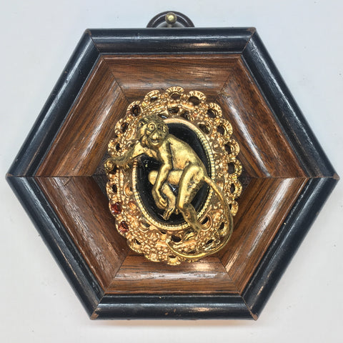 Wooden Frame with Monkey (3.5