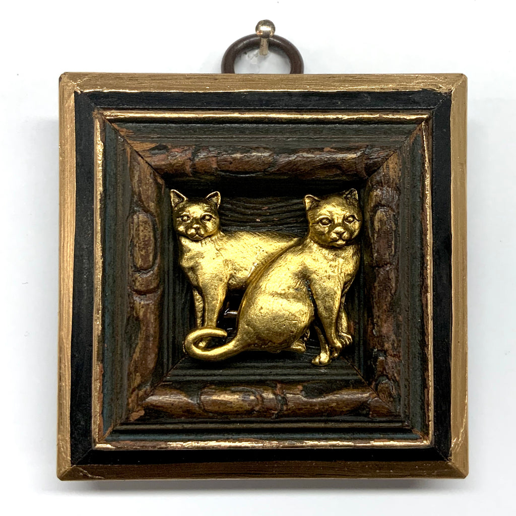 Lacquered Frame with Cats (2.25