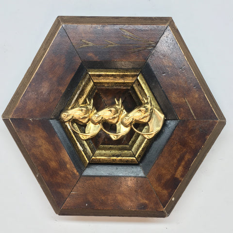 Burled Frame with Horses (4.5