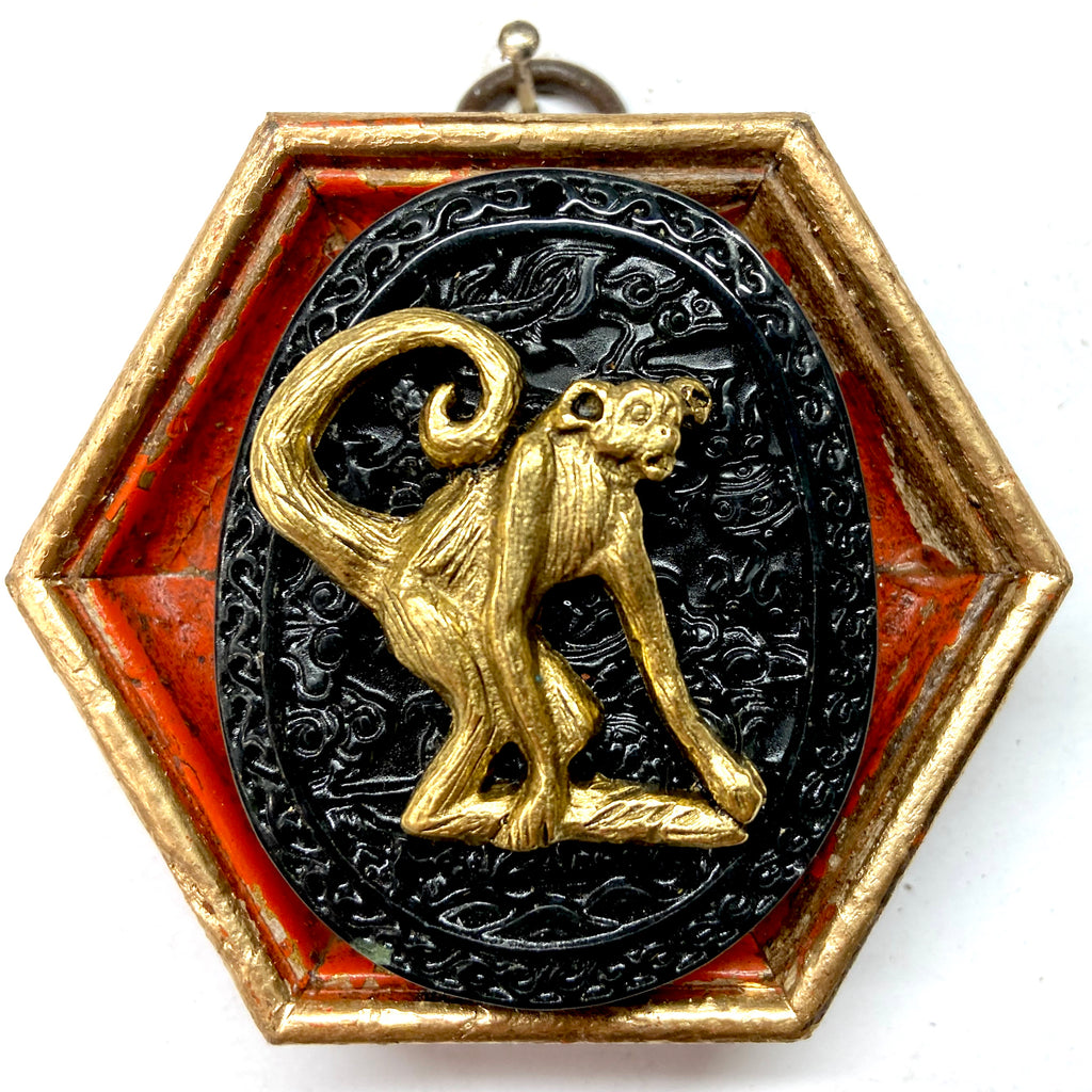 Painted Frame with Monkey on Jade (3
