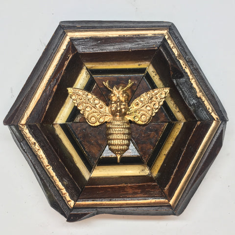 Wooden Frame with Victorian Bee (4