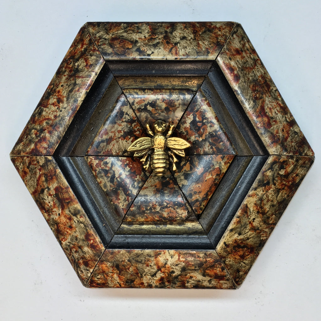 Marbled Frame with Napoleonic Bee (4.25