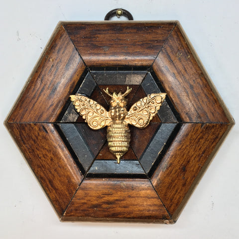 Wooden Frame with Victorian Bee (3.75