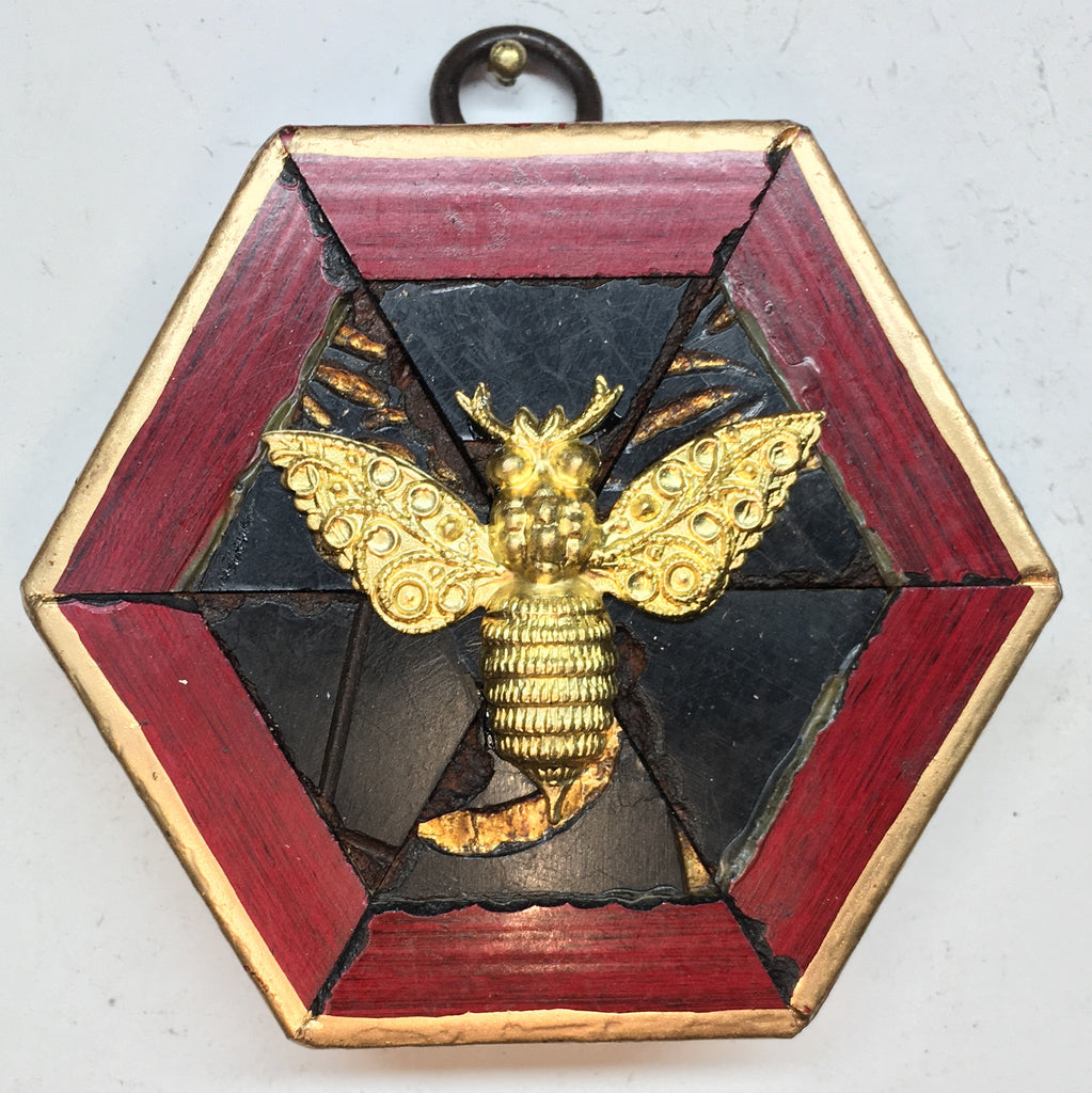 Lacquered Frame with Victorian Bee (3.25