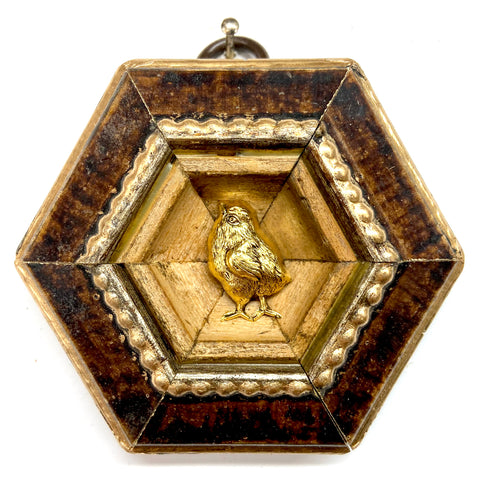 Burled Frame with Chick (3.25