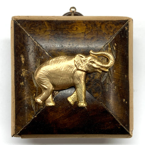 Burled Frame with Elephant (2.25
