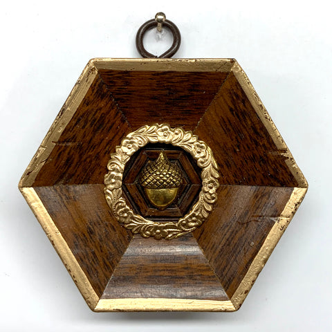 Burled Frame with Acorn (3.25