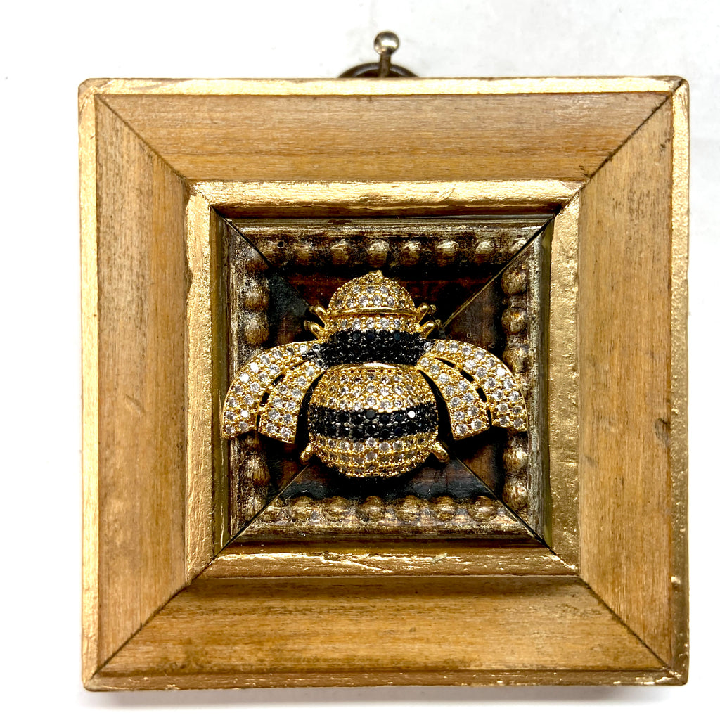 Wooden Frame with Sparkle Bee (3