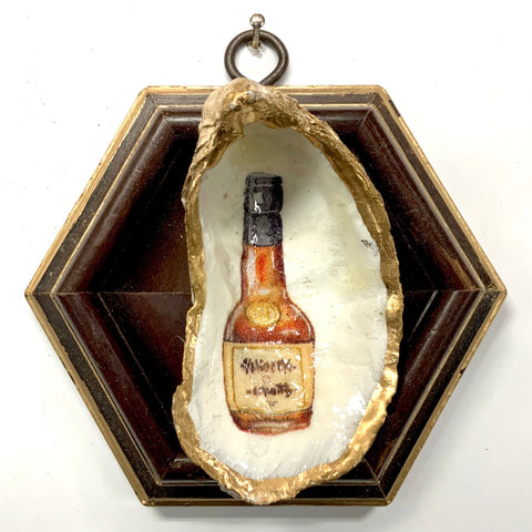 Wooden Frame with Bourbon Barrel Oyster Shell (4.25