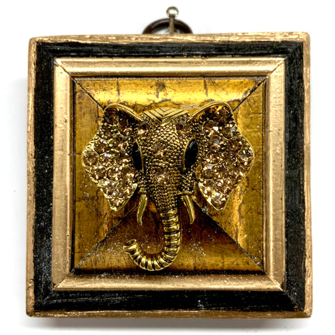 Bourbon Barrel Frame with Sparkle Elephant Brooch (2.75