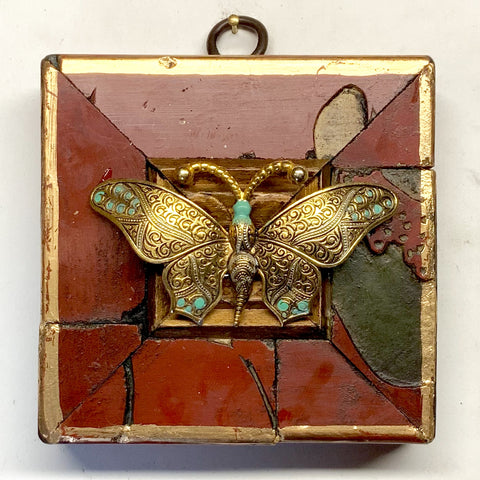 Coromandel Frame with Butterfly Brooch (3.5