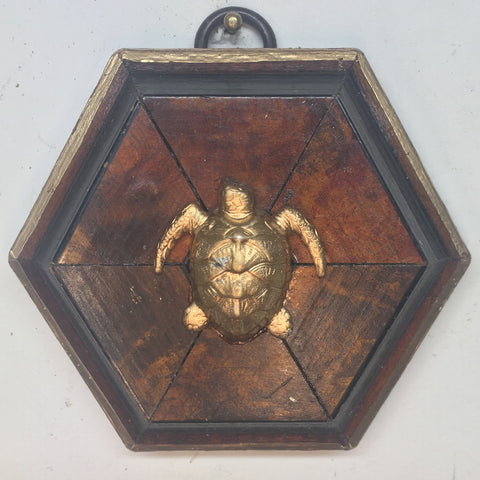 Burled Frame with Turtle (3.25