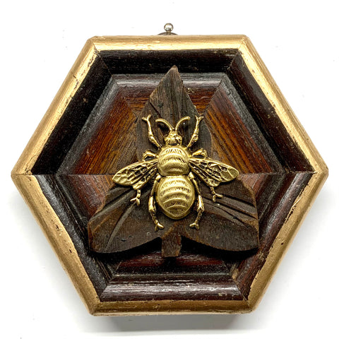 Wooden Frame with Grande Bee on Wood Piece (4.25