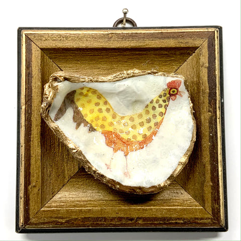 Gilt Frame with Funky Chicken Oyster Shell (4.5