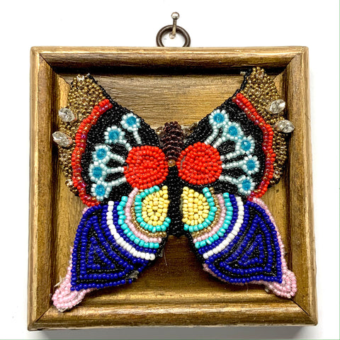 Gilt Frame with Beaded Butterfly (4.5