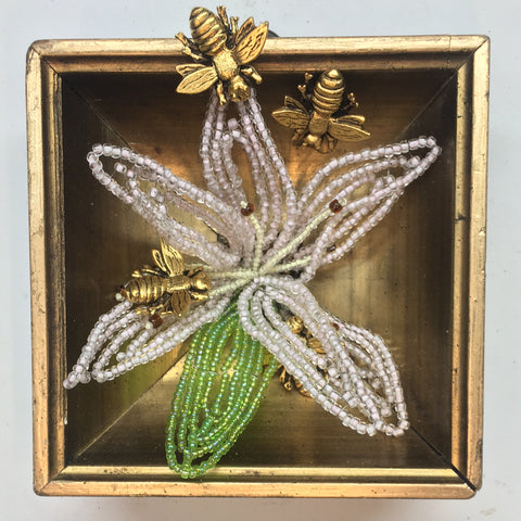 Gilt Frame with Napoleonic Bees and Brooch (3.5