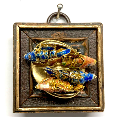 Painted Frame with Koi on Brooch (2