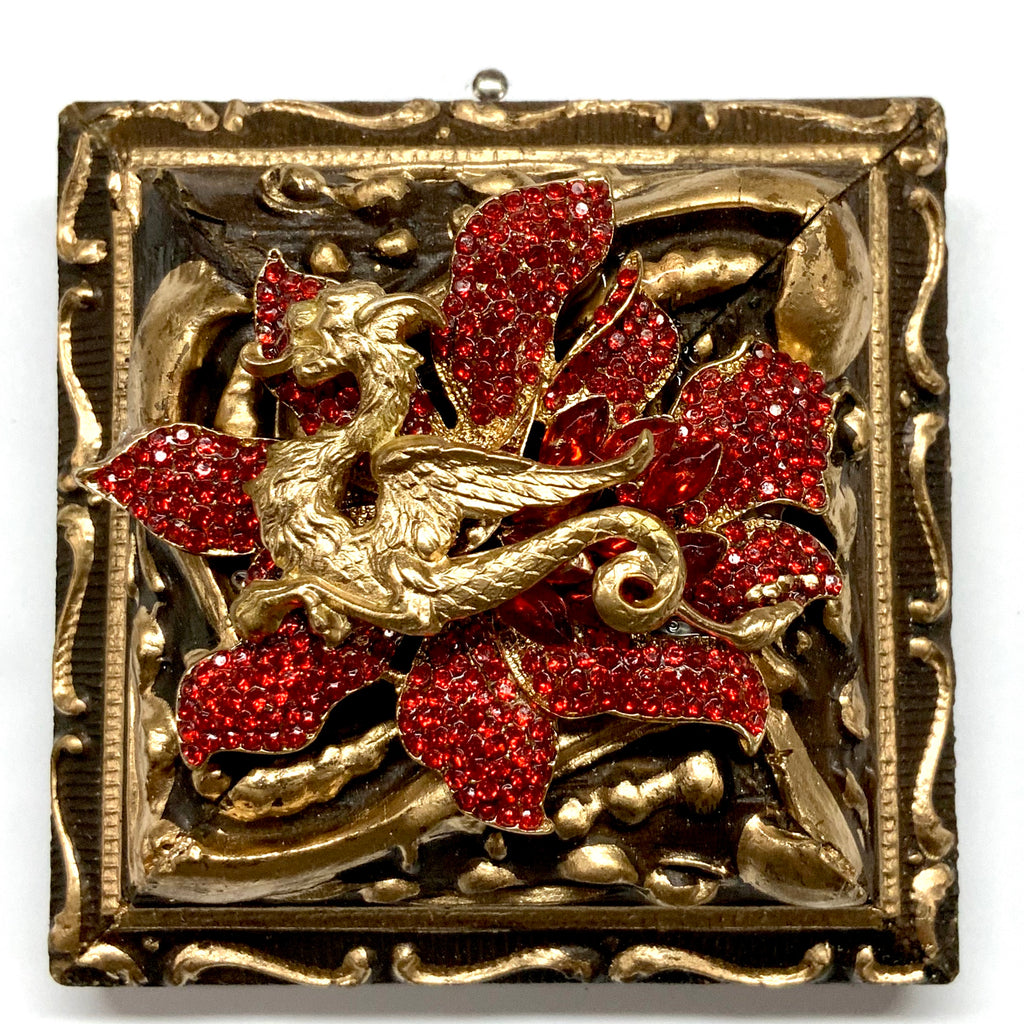 Painted Frame with Dragon on Brooch (3.25
