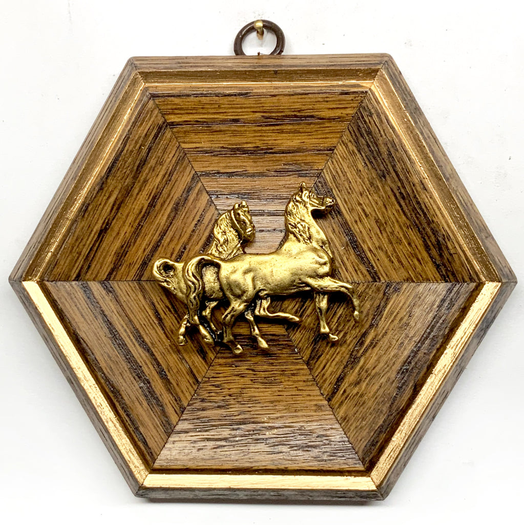 Wooden Frame with Horses (5.75