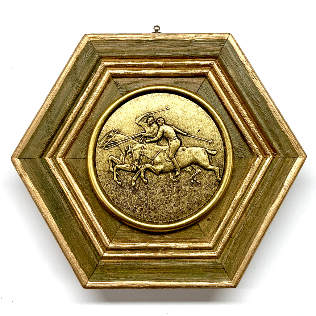 Painted Frame with Polo Coin (5.5