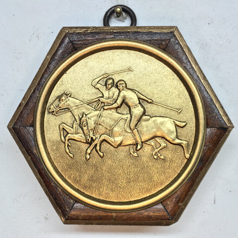 Wooden Frame with Polo Coin (3.5