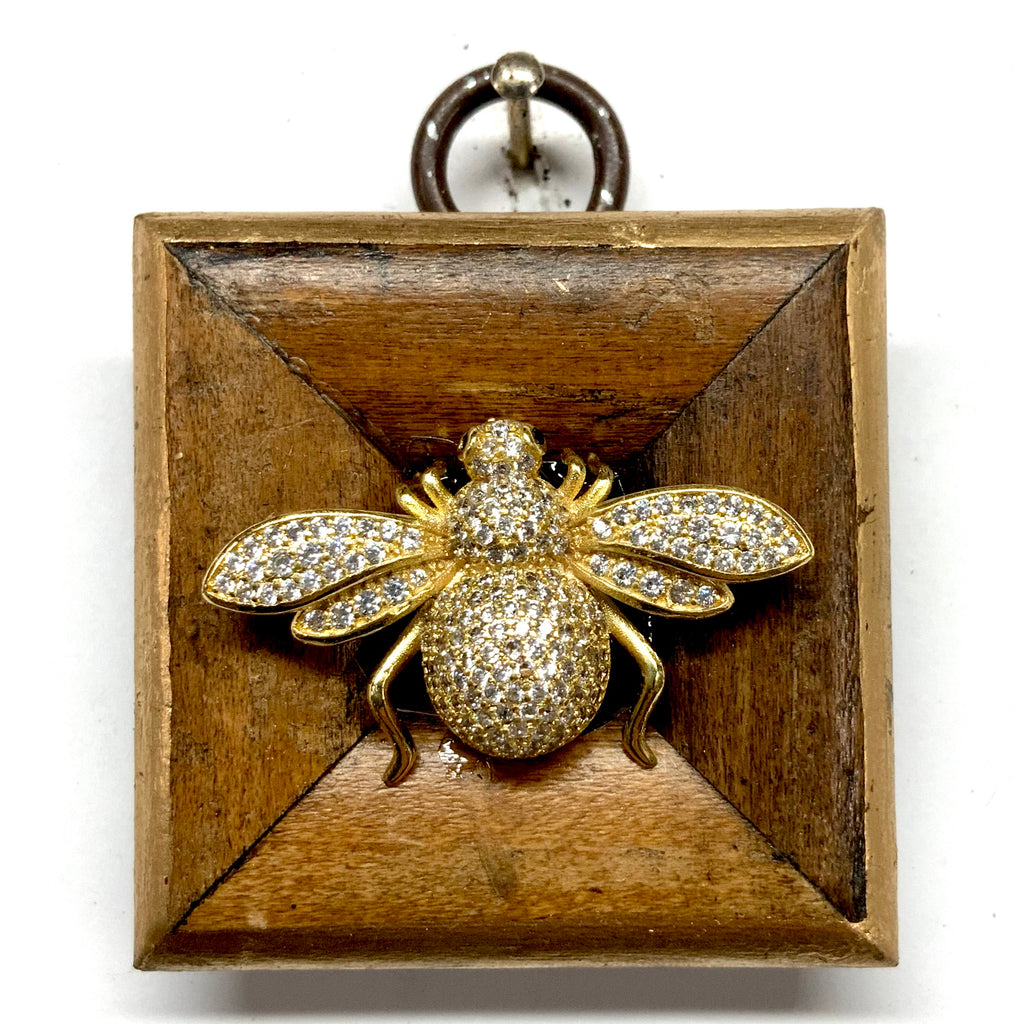 Wooden Frame with Sparkle Bee (1.75