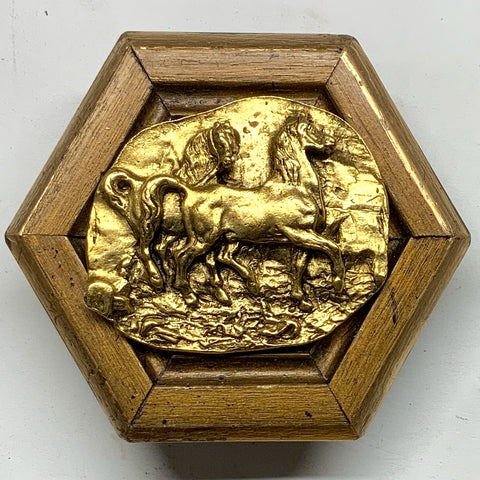 Gilt Frame with Horses (4.25