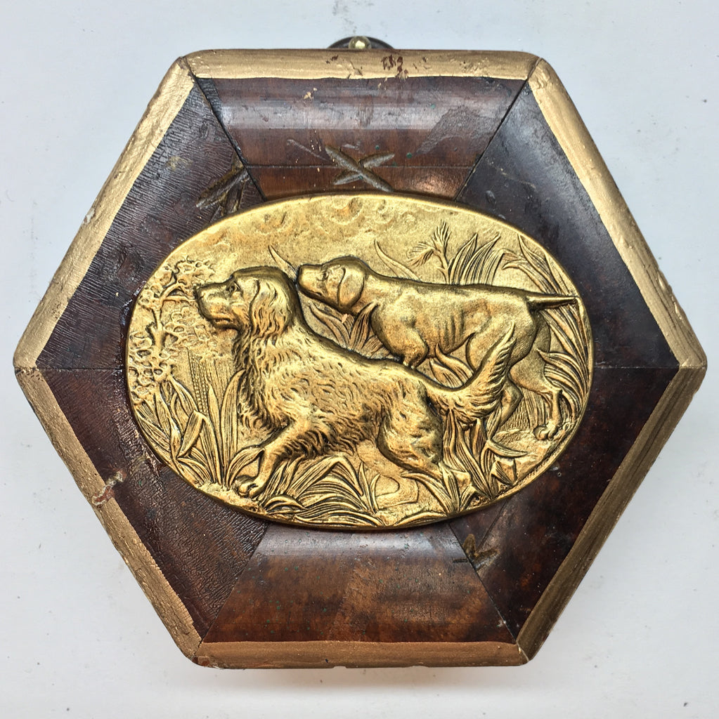 Burled Frame with Hunting Dogs (3.5