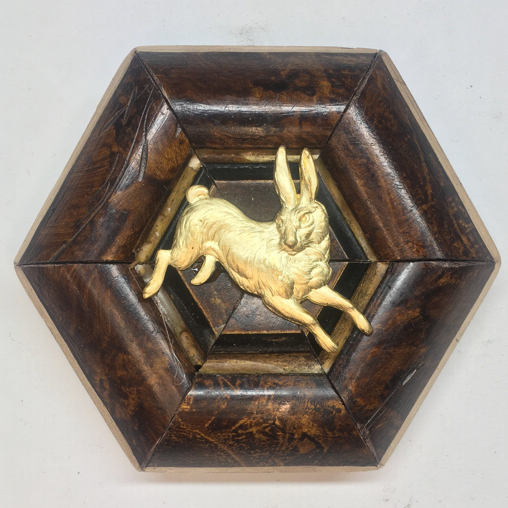 Burled Frame with Hare (4.25