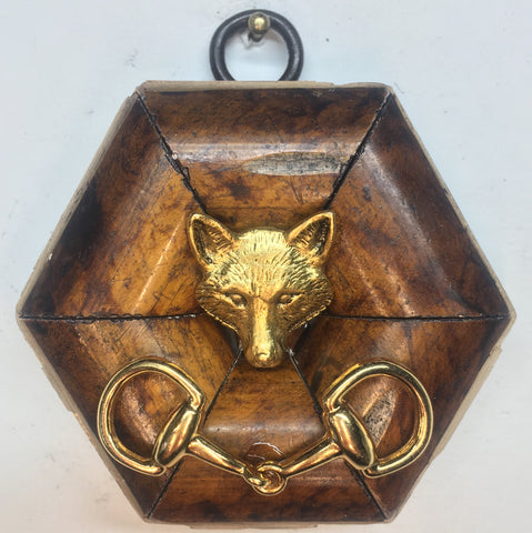 Burled Frame with Fox and Snaffle (2.75