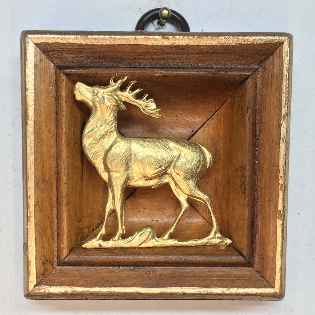 Burled Frame with Stag (3.25