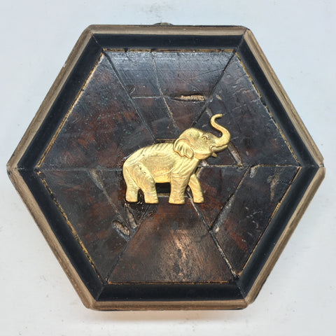 Burled Frame with Elephant (3.25