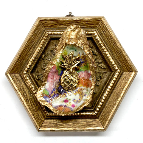 Gilt Frame with Pineapple on Oyster Shell (5.75