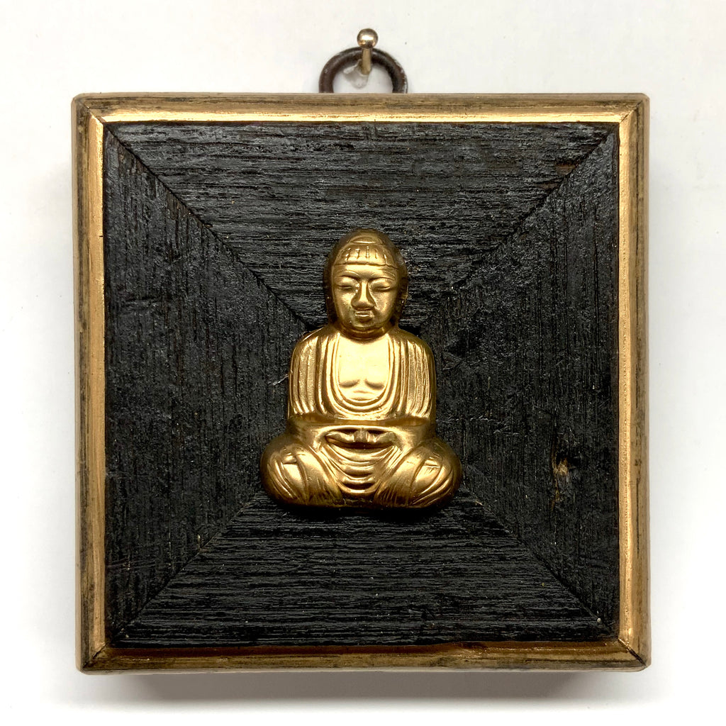 Bourbon Barrel Frame with Buddha (3.5
