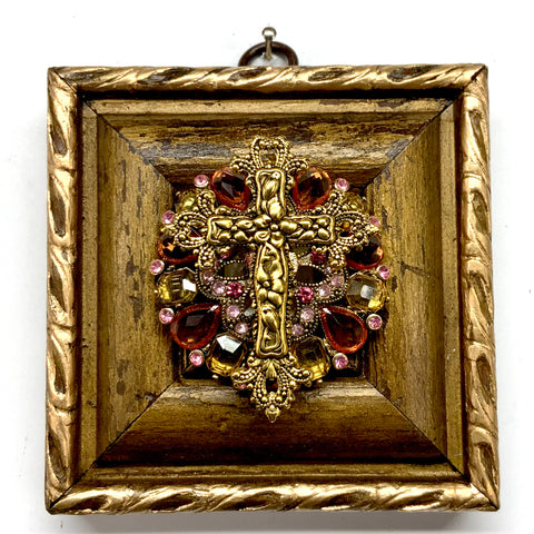 Gilt Frame with Cross on Brooch (3.75