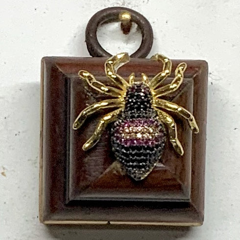 Wooden Frame with Sparkle Spider (1.5