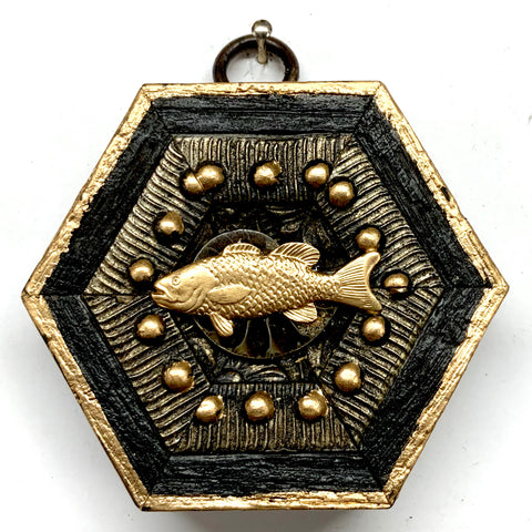 Bourbon Barrel Frame with Fish (3