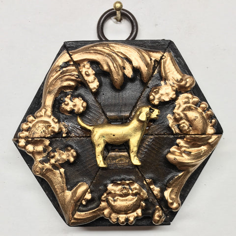 Gilt Frame with Golden Retriever (3