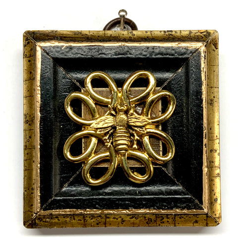 Painted Frame with Napoleonic Bee on Brooch (2.75