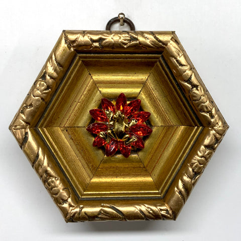Gilt Frame with Frog on Brooch (3.75
