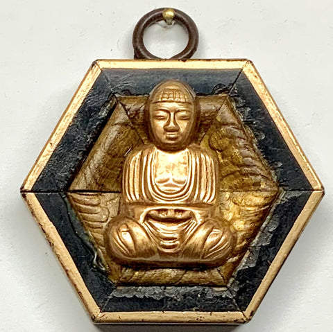 Lacquered Frame with Buddha (2.75