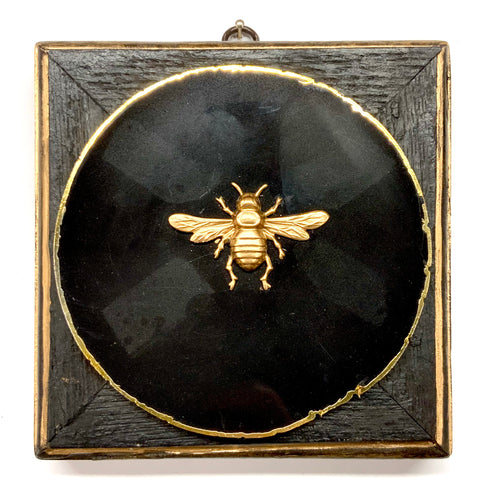 Bourbon Barrel Frame with Italian Bee on Agate (6
