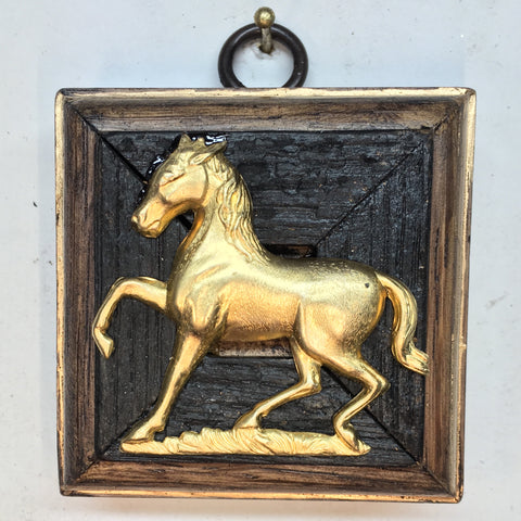 Bourbon Barrel Frame with Horse (2.5